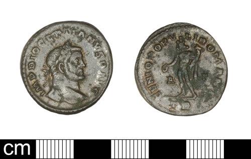 SOM-200AB8: Roman coin: nummus Diocletion