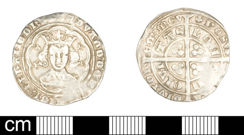 SOM-25D786: Medieval coin: groat of Edward III