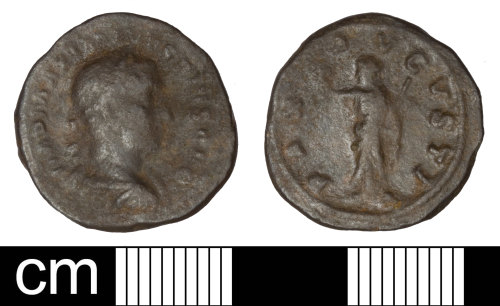 SOM-3AD6A8: Roman coin: denarius of Maximinus I