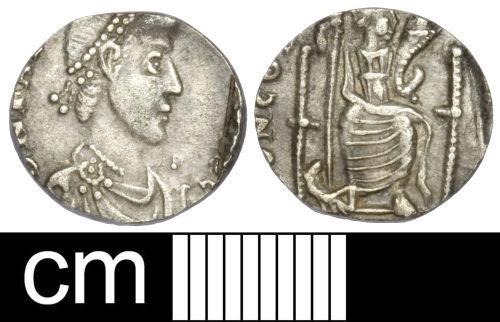 SOM-4758D1: Roman coin: clipped siliqua of Magnus Maximus