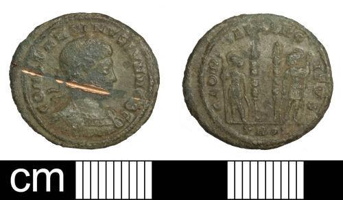 SOM-587D81: Roman coin: nummus of Constantine II