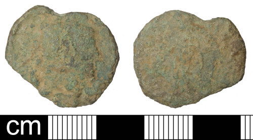 SOM-589DBD: Roman coin:  nummus, probably of Constantine I