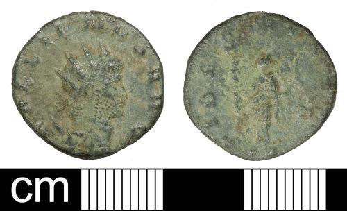 SOM-592A58: Roman coin: radiate of Gallienus (sole reign)