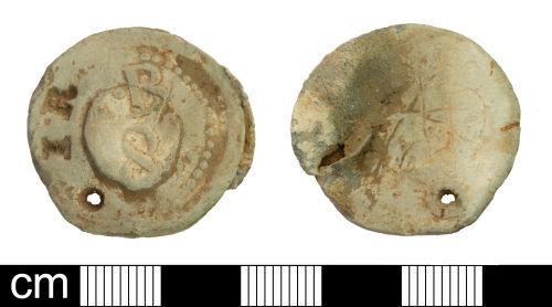 SOM-650FB5: Post Medieval Cloth Seal