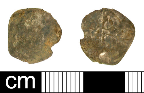 SOM-65A026: Medieval coin: penny of unclear king, Edward III, Henry V or Henry VI