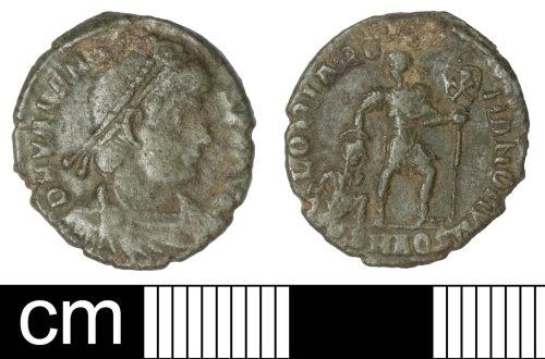 SOM-6ED426: Roman coin: nummus of Valens