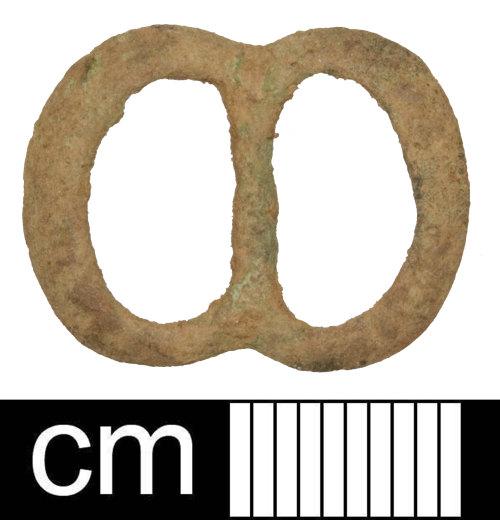SOM-7B8DFB: Medieval or post-medieval double-loop buckle frame