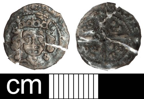 SOM-84AB74: Medieval coin: Irish penny of Edward IV
