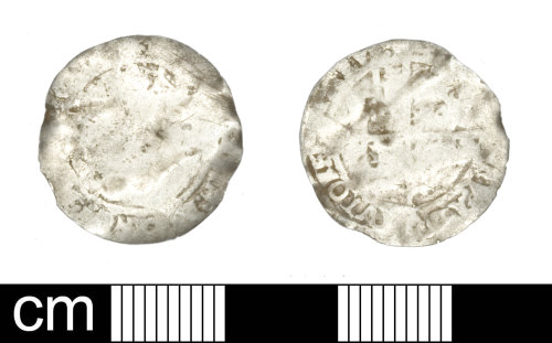 SOM-8D00E7: Post-medieval coin: Threepence of Elizabeth I