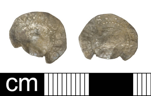 SOM-8E3843: Post Medieval coin: penny of James I
