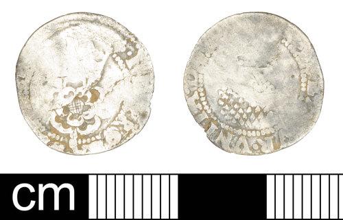 SOM-AFD215: Post Medieval coin: halfgroat of James I