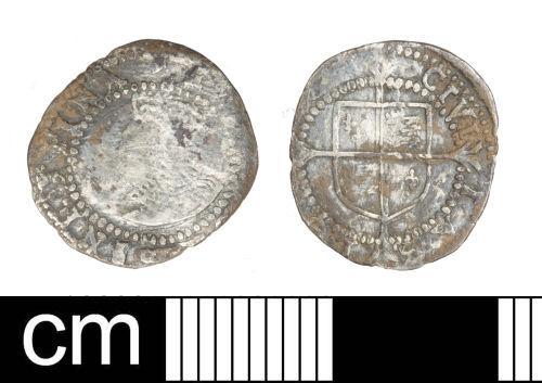 SOM-BBB480: Post Medieval coin: penny of Elizabeth I