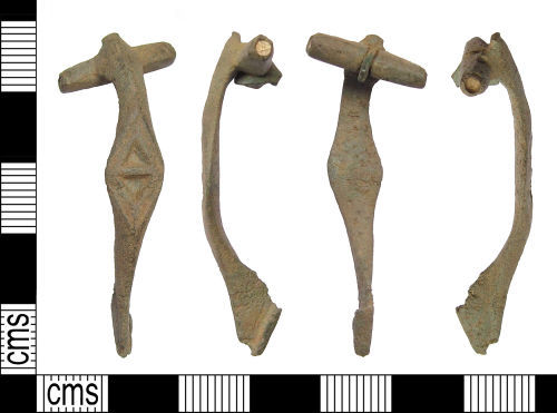 SOM-BC2AE7: Roman brooch: developed T-shaped