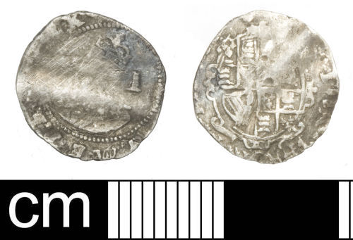 SOM-BC5F89: Post-medieval coin: penny of Charles I