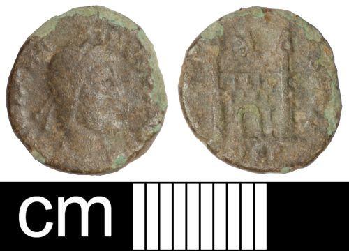 SOM-C7ED01: Roman coin: nummus of Magnus Maximus