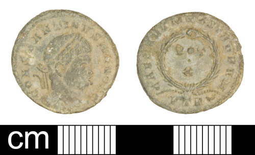 SOM-CAF524: Roman coin: nummus of Constantine II
