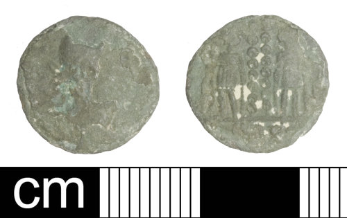 SOM-E12BF6: Roman coin: nummus of the House of Constantine