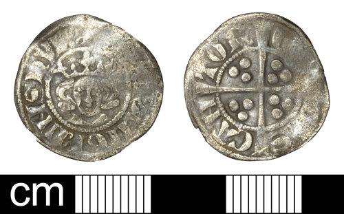 SOM-E9CA92: Medieval coin: penny of Edward I