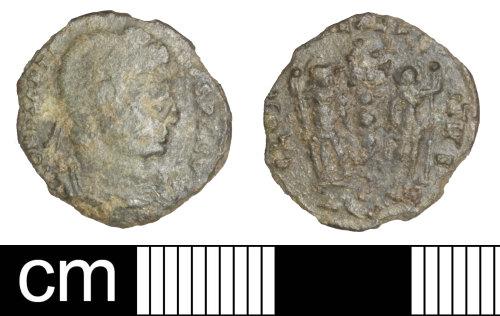 SOM-F5BD65: Roman coin: nummus of Constantine II