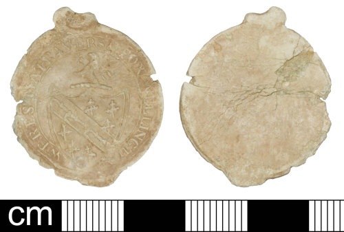 SOM-FBAE42: Cloth seal issued by Weres, Matravers & Fox of Wellington