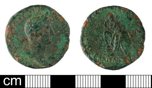 SOM-008721: Roman coin: As of Hadrian
