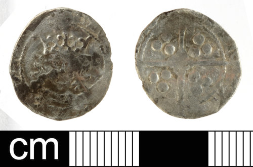 SOM-035B42: Medieval coin: penny of Edward IV, second reign