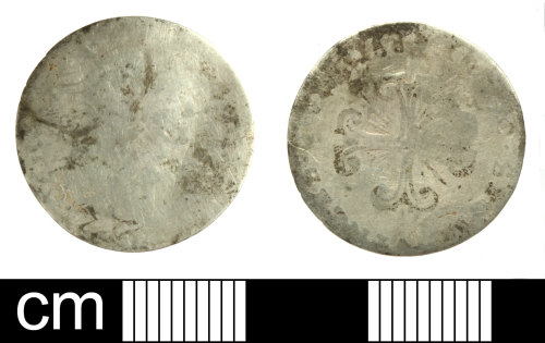 SOM-05154D: Post Medieval coin: 8 grana of Charles II of Spain as King of Naples