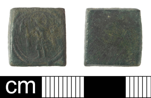 SOM-06E5BD: Post Medieval coin weight for a German dukat