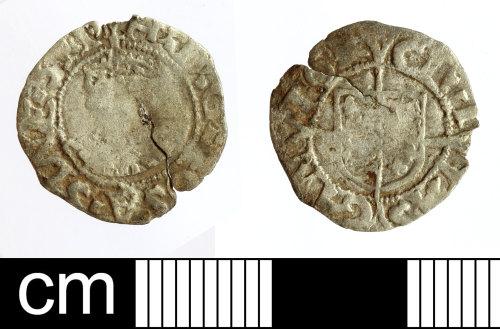 SOM-087937: Post-Medieval coin: penny of Edward VI