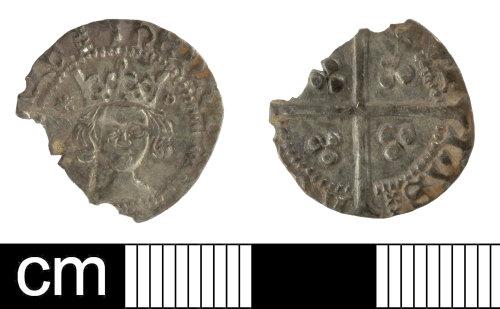 SOM-2814B6: Medieval coin: penny of Henry V