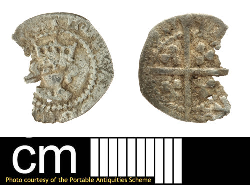 SOM-2DC56A: Medieval coin: halfpenny of Edward IV, second reign