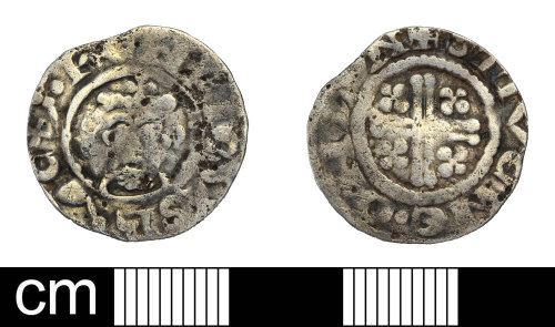 SOM-3890BE: Medieval coin: penny of Richard