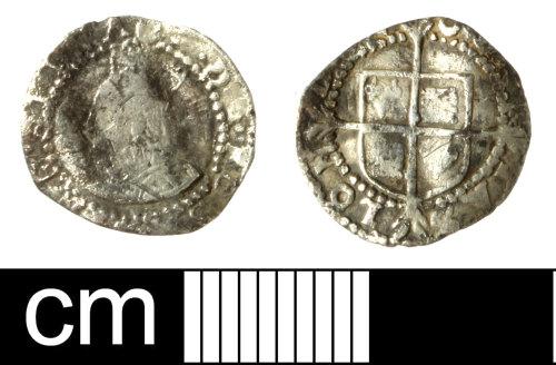 SOM-431482: Post medieval coin: penny of Elizabeth I