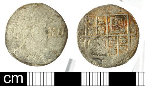 SOM-431E8B: Post medieval coin: shilling of Charles I