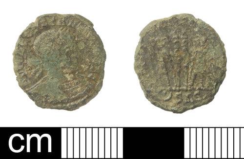 SOM-4D8765: Roman coin: nummus of Constantius II