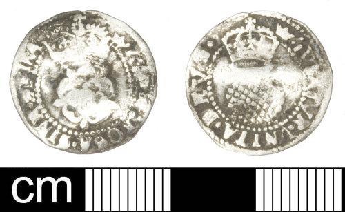 SOM-5777A0: Post Medieval coin: halfgroat of James I