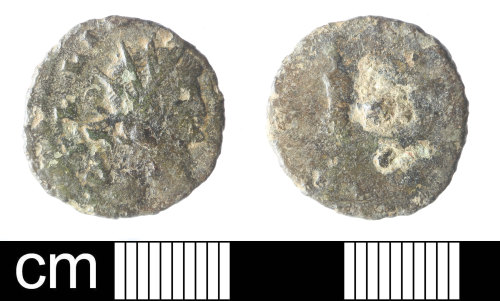 SOM-5D1A89: Roman coin: radiate of Gallienus