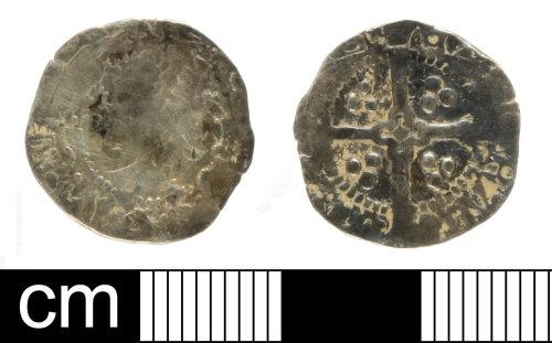 SOM-609E06: Medieval coin: penny of Henry V