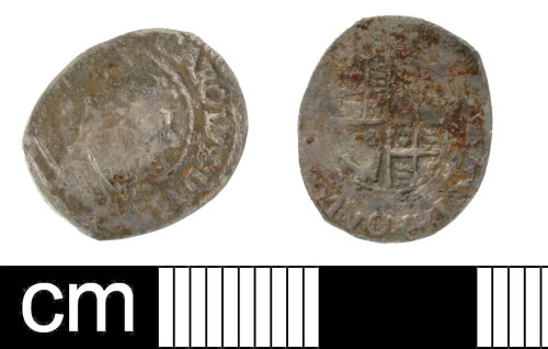SOM-73E74D: Post Medieval coin: penny of Charles I