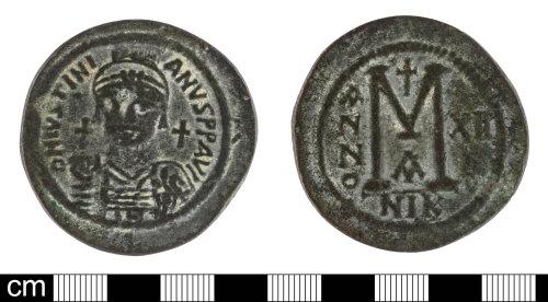 SOM-7403B7: Byzantine coin: follis of Justinian I
