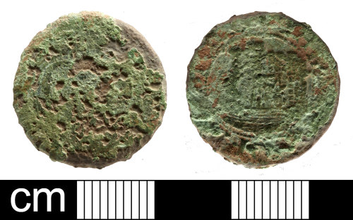 SOM-7E37AB: Post Medieval traders token: farthing issued by the City of Bristol