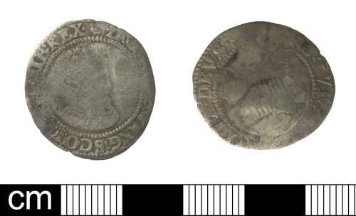 SOM-85F752: Irish post-medieval coin: Irish sixpence of James I