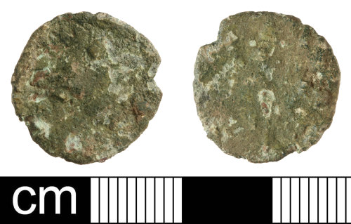 SOM-886B0A: Roman coin: radiate of an unclear emperor