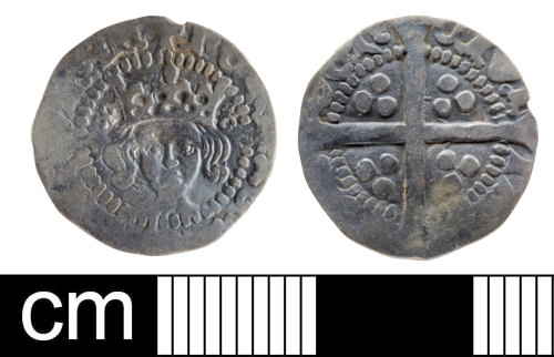 SOM-9EB064: Medieval coin: penny of Henry V
