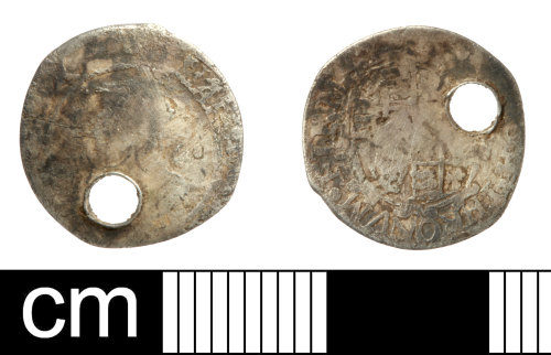SOM-A24365: Post Medieval coin: penny of Charles I