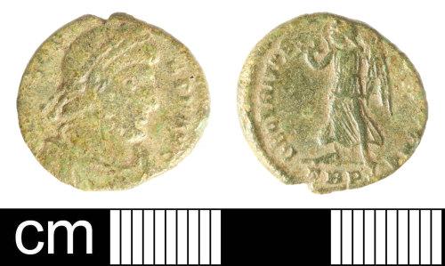 SOM-B23B39: Roman coin: nummus of Valens