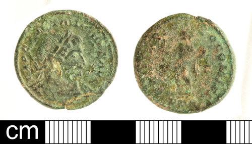 SOM-B5416C: Roman coin: nummus of Constantine I