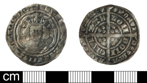 SOM-C108D2: Medieval coin: groat of Edward III