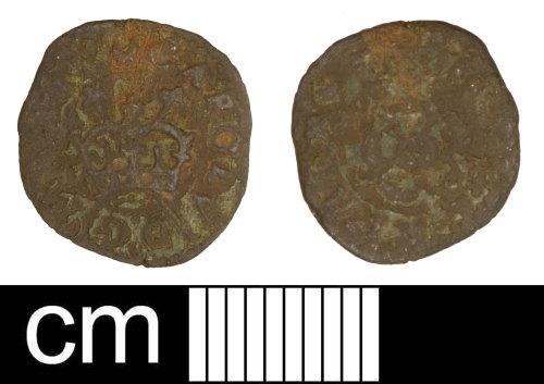 SOM-C5AF3B: Post-medieval coin: farthing of Charles I