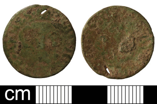SOM-C5E731: Post Medieval trade token: farthing issued by the City of Bristol